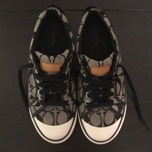 Coach Barrett Sneakers Sz 7 Gray and Black